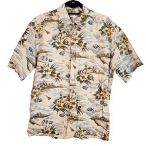 Men's Cruise Tropical HAWAIIAN Shirt Pierre sz M
